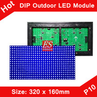 P10 Outdoor Blue Color LED Display Module 320*160mm 32*16 Pixels Waterproof Single Color Module