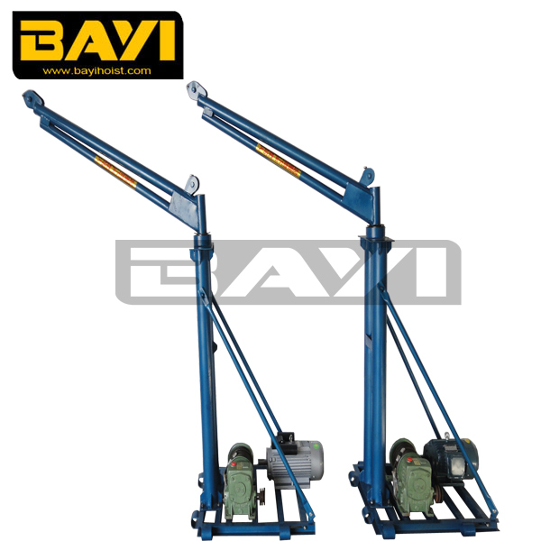 Mobile Crane Jib : Cantilever swing arm jib crane electric mobile winch