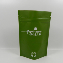 Large grip sealing shiny foil bag with glossy printing