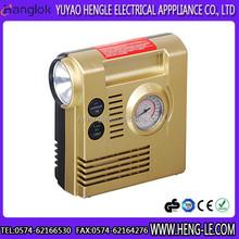 2014 year Hot sale 12V 3 in 1 mini car air compressor plastic air compressor, air pump tire inflator