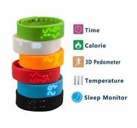 Design Digital watch Pedometer with Time function measure steps for pedometer