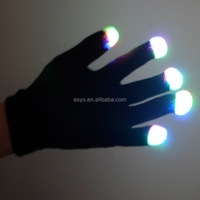 Led glove wholesaler factory supply party decorations rave led light gloves