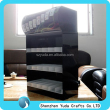 China supplier hottest acrylic cigarette display case/ smoke showcase/ tobacco display cabinet
