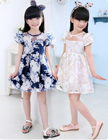 Kid Clothes Girls Hand Embroidered Ivory Chiffon Flower Girl Dresses
