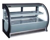 Mini front door european style cake showcase / Deli / Fruit showcase refrigerator with CE