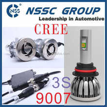HOT Car Lamp 3S 9007 Hi Low Beam LED Headlight with two LED,38w 4500lm LED Conversion Kit
