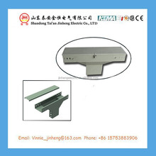 600*200mm cable joint wire accessories, aluminum cable tray prices with upper margin vertical tee
