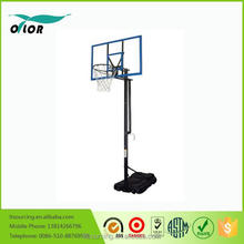 Wholesale quick adjustment movable portable 10' basketball stand with blue glass board