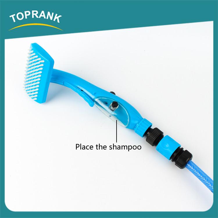 nuovo disegno abs pet grooming bagno spazzola lavaggio doccia per cani con shampoo