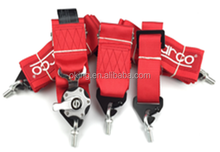"""Racing Street 5Point Bolt-In 3"""" Seat Belt Harness (Red)"""