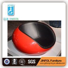Red White Egg leisure chair for living room furnitures Fiber Glass Ball Chair