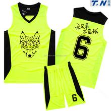 wholesale custom sublimated latest basketball uniform design