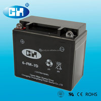 New design with good quality big battery capacity 12v 7ah motorcycle battery