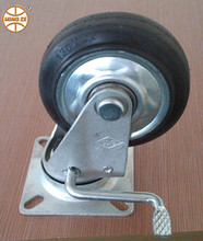 steel rim mold on rubber wheels swivel/fixed/brake caster