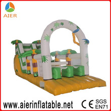 Newest long playground slide,tropical tahiti inflatable
