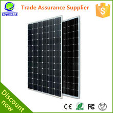 Mono solar panel high efficiency 250w pv solar panel price