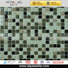 12*12inch peel-stick glass mosaic table patterns