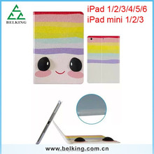 Cartoon Leather Protector Case For iPad 6, For iPad 6 PU Lovely Tablet Leather Case