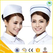 Uniformes enfermeira do hospital estilo asiático barato chapéus enfermeiras uniformes e bonés enfermeiros tampas para venda