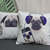 2015 hot sale 3d digital print new design animal dog cushion cover wholesale