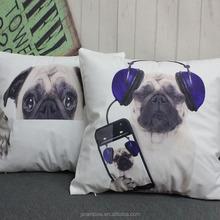 2015 hot sale 3d digital print new design animal dog cushion cover wholesale