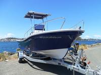 Liya fiberglass offshore boat 5.8m fishing cruise boats without engine