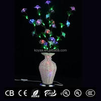 colors changing LED vase light for decoration indoor on festivals