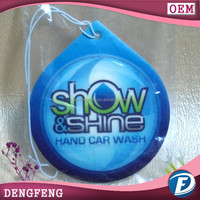 high quality promotional car paper air freshener with scent for home
