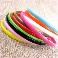 wholesales 1.2cm width colorful plastic headband