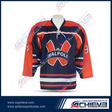 New design, wholesale international youth NHL jerseys OEM ice hockey jersey black hawk team