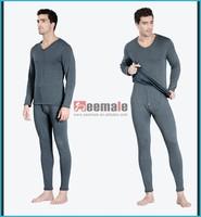 Merino Wool Heated Thermal Underwear V-Neck Polartec Leg Warmers Underwear Sets Long Sleeve Long John Underwear Mens Pyjamas