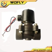 """plastic normally close 1"""" water electrical valves 24v"""