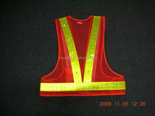2015 New LED Security Guard Warning Reflective Mesh Safety Vest/Jacket Glow in Dark