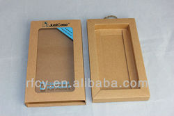 window kraft paper box packaging for iphone 5 case