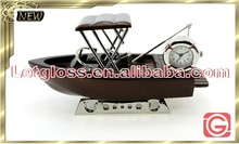 Professional zinc alloy fishing boat 3D clock
