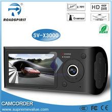X3000 car camera for the taxi two channel car camera with GPS