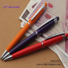 Novelty fat metal ball pen with crystal