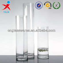 clear glass cylinder vase
