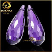 925 sterling silver dangle earring making 10*15mm quality AAAAA amethyst waterdrop zirconia