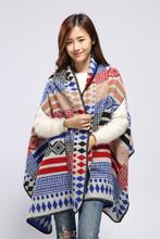 2015 Woman's Winter cashmere cape shawl scarf pashmere poncho