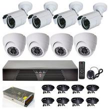8CH DVR security camera set Indoor & Outdoor IR CCTV Camera System 1000 TVL