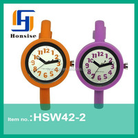 2015 new products silicone thin strap watch with removable strap