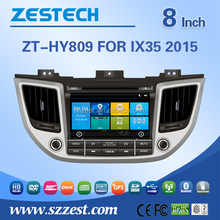 8 inch car dvd player for Hyundai Tucson 2016 car parts genuine spare parts car gps player with GPS DVD USB/SD AM/FM