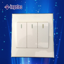 2015 Export modern Golden champagne wall switch electric light switch ABS panel wall switch