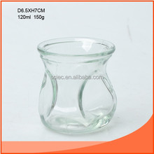 120ml clear glass candle bottle