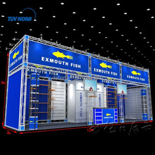 Large size 3mx12m truss display booth stand with customized graphics printing