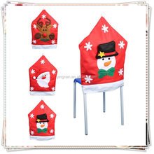Christmas Santa Snow Man Elk Clause Red Hat Chair Cover Christmas Dinner Table Party Indoor Christmas Decoration Supplies