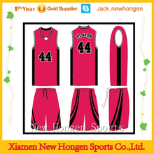 OEM service basketball jersey/basketball uniform/basketball wear with print logo,name and number