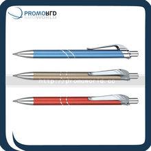 Beautiful metal ballpen promotin shinny metal pen metallic pen metal refill ballpen