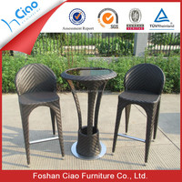 Hot sell stainless steel wickes outdoor furniture bar stool set